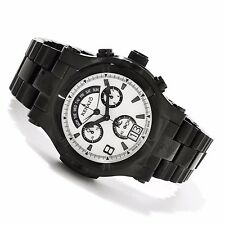 Renato Men's Rounded T-Rex Diver Chronograph Retrograde Day Black IP SS Watch