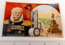 1887 Emperor William 1st of Germany Clark's Mile-End thread Victorian Card F51