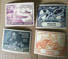1949 Johor UPU 4 set value mint light hinge with or gum very nice details !??