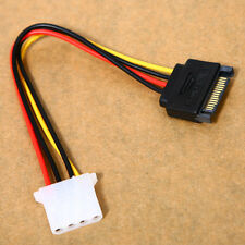 SATA 15-pin  Male Power Cable to Molex IDE 4-pin Female Power Drive Adapter New