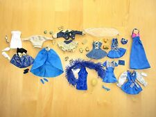 Barbie Clothes  Blue & Gold  Shoes Purses Accessories    Lot G7