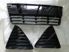 Gloss Black Front Bumper Lower Grilles Grills Kits For Ford Focus 2012-2014