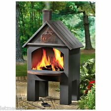 Cabin Cooking Firepit Deck Patio Camping Fireplace BBQ Grill Oven Stove Chimney