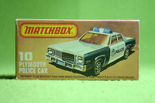Modellauto - Matchbox - Superfast - Nr. 10 Plymouth Metro Police Car - OVP