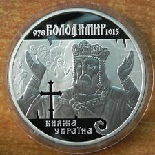 Ukraine 10 griven VOLODYMYR THE GREAT  Silver 1 oz, proof, 2000,  RRR. Km# 122
