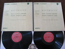 2 LP Beethoven Casals Serkin Sonatas for Cello and Piano No. 1-5 France 60s | EX