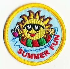 Girl Boy Cub SUMMER FUN Sun in the Patches Crests Badges SCOUTS GUIDE Outing day