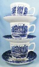 3 Shakespeares Country Cups & Saucers Royal Essex Ironstone Birthplace Trinity C