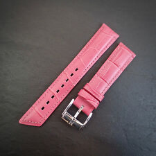 Hirsch NEW 18mm PINK Alligator Embossed Leather Watch Strap Padded Glove Lined