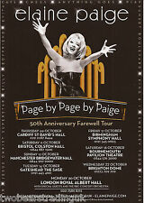 Event Promo Flyer: Elaine Paige - 50th Anniversary Farewell Tour 2014