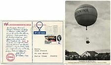 BALLOON POST GB FRANCE GERMAN PPC 1965 PILOT MESSAGE 4d GEOGRAPHICAL