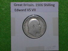 Great Britain - 1906 One Shilling - Predecimal Coin - Silver .925.
