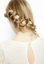 Set 6 Boho Flower White Daisy Hair Cuff Clip Pin Headband Pin Accessories Slide