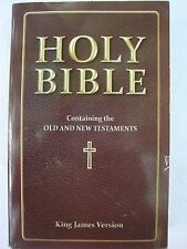 NEW The Holy Bible Old & New Testament's KJV King James Version Brown Maroon
