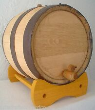 (2) 6 Gallon American White Oak Rum Tequila Whiskey Barrels Beer Kegs Wine Casks