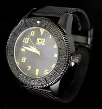 Midnight Black Mesh Luxury Finish Epic Hip Hop CZ Bling Mens Wrist Watch