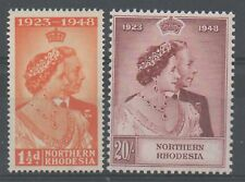 Northern Rhodesia 1948 royal silver Wedding unmounted mint set stamps superb