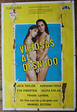Used - Cartel de Cine  VICIOSAS AL DESNUDO  Vintage Movie Film Poster - Usado