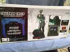 Halloween LifeSize Animated CREEPER REAPER CAULDRON Prop Haunted House NEW