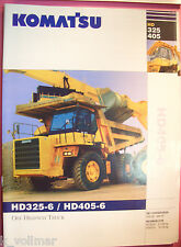 ✪ viejo folleto original/sale brochure Komatsu Truck hd325-6/hd405-6