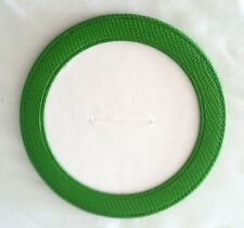 Green Leather Magnetic Coaster or Ornament for Needlepoint Canvas Ornament byLEE