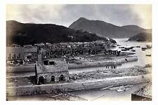 rp02725 - Hong Kong - Aberdeen Dock destroyed after Typhoon in 1874 - photograph