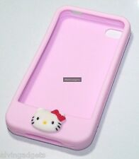 Hello Kitty Silicone Case For iPhone 4 4S With Screen Protector