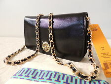 New With Tag TORY BURCH Adalyn Clutch Chain Crossbody Bag, Black, Gorgeous $350