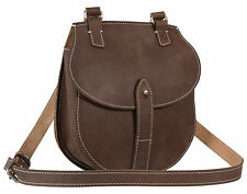 MUD BROWN LEATHER CROSSOVER LADIES SMALL MESSENGER BAG RRP OVER £119, BRAND NEW