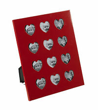 12 Month Picture Red Hearts Love Multi-Pictur Frame Montage Wall Mount 1 Year