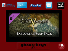 Civilization V 5 Explorer's Map Pack Steam Key Pc Game Code Neu Blitzversand