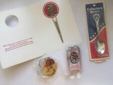Vintage 80's NOS Georgia Bulldogs Fan Pack Spoon Keychains Book Mark/Letter Open