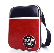 New Armani Jeans Men's Cross-Body Messenger Shoulder Bag OM262.U34-G8 Navy/Red