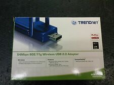 WIRELESS USB 2.0 ADAPTER TRENDNET 54MBPS 802.11G