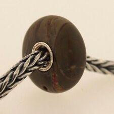 Authentic Trollbeads Jasper New Stone Charm Bead Red accent