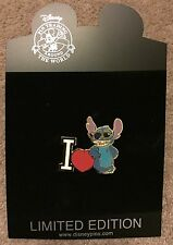Disney Shopping I Love Stitch Heart LE 500 Pin NEW ON CARD NOC