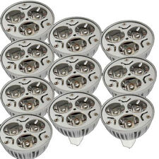 10X New MR16 GU5.3 3x 1W 3W 12V Warm White 3500K 3 LED Spot Light Bulb Lamp