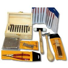 Metal Stamping Tool Kit with Alphanumeric Stamps and Assorted Tools and Anvil