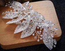 Rhinestone Headdress Crystal Bridal Accessories Pearls Wedding Hair Clip 1 Piece