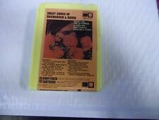 Bacharach & David Great Songs [Quad Quadraphonic] 8-Track tape Capitol Records