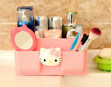 PINK Hello Kitty organizer makeup toiletries stationery storage holder plastic