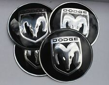 DODGE Wheel Hub Caps Badge Emblem Stickers 65mm Set of 4 EPOXY RESIN