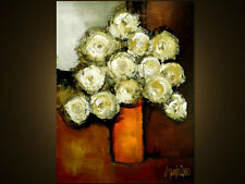 ABSTRACT FLOWERS PAINTING - Original Modern ART - contemporary ART by SLAZO