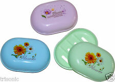 3PC SOAP DISH CASE HOLDER PLASTIC CONTAINER BOX TRAVEL CARRY CASE BATHROOM SET
