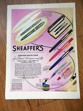 1939 Sheaffer's Pens Set Ad Lady Feathertouch Junior Ensemble others