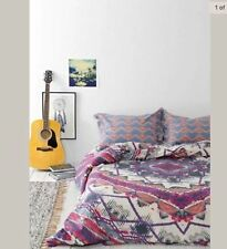 """Urban Outfitters Magical Thinking Mountain Medallion Duvet Pink KING 104""""x 96"""""""