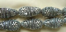Large Silver Beads Vintage Style Filigree Light weight Hollow Great Focal Beads