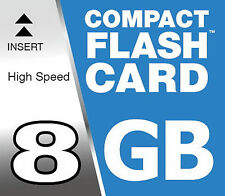 8 GB Compact Flash Carte CF pour Olympus E-410