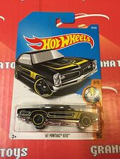 67 Pontiac GTO #69 Black 2017 Hot Wheels Case C