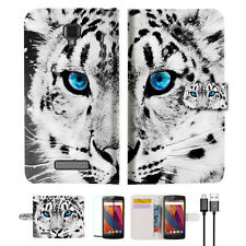 Leopard Wallet TPU Case Cover For Telstra Slim Plus -- A013